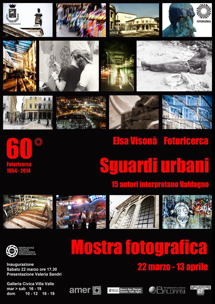 Manifesto Mostra fotografica Sguardi Urbani